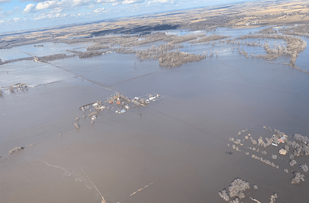 An Aerial View Of The Nebraska Flooding