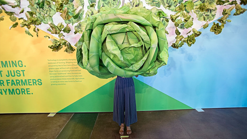 Giant Head Of Lettuce At South By Southwest's The Food Effect