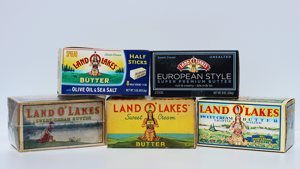 An Assortment of Land O'Lakes Packaging