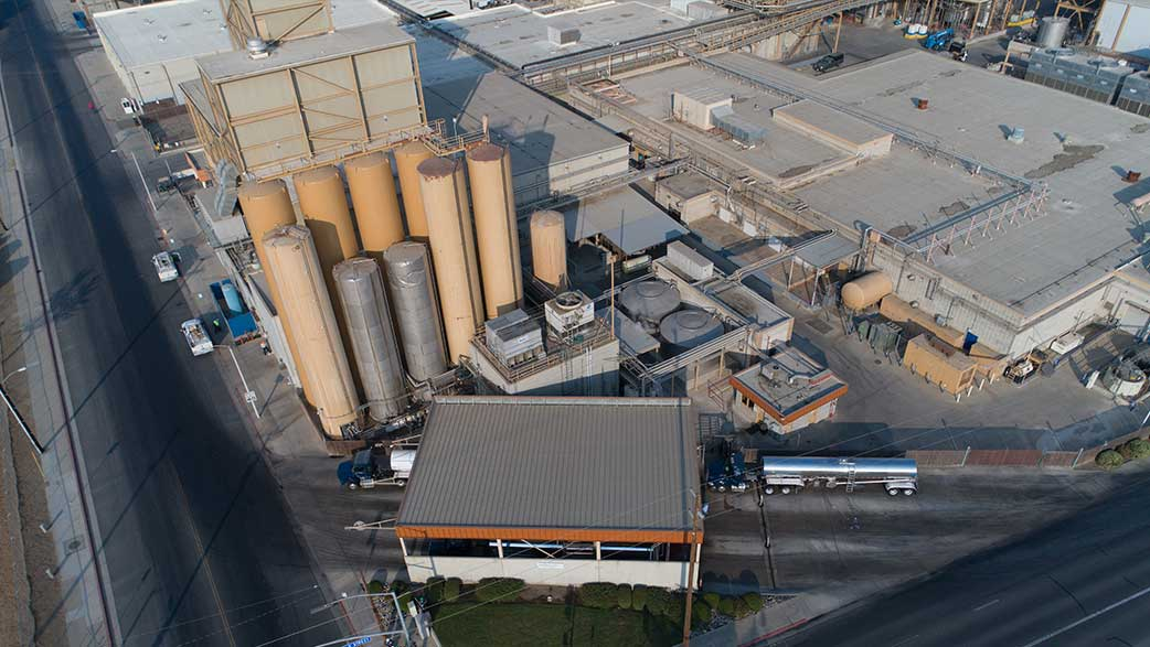 Aerial View Of A Dairy Plant