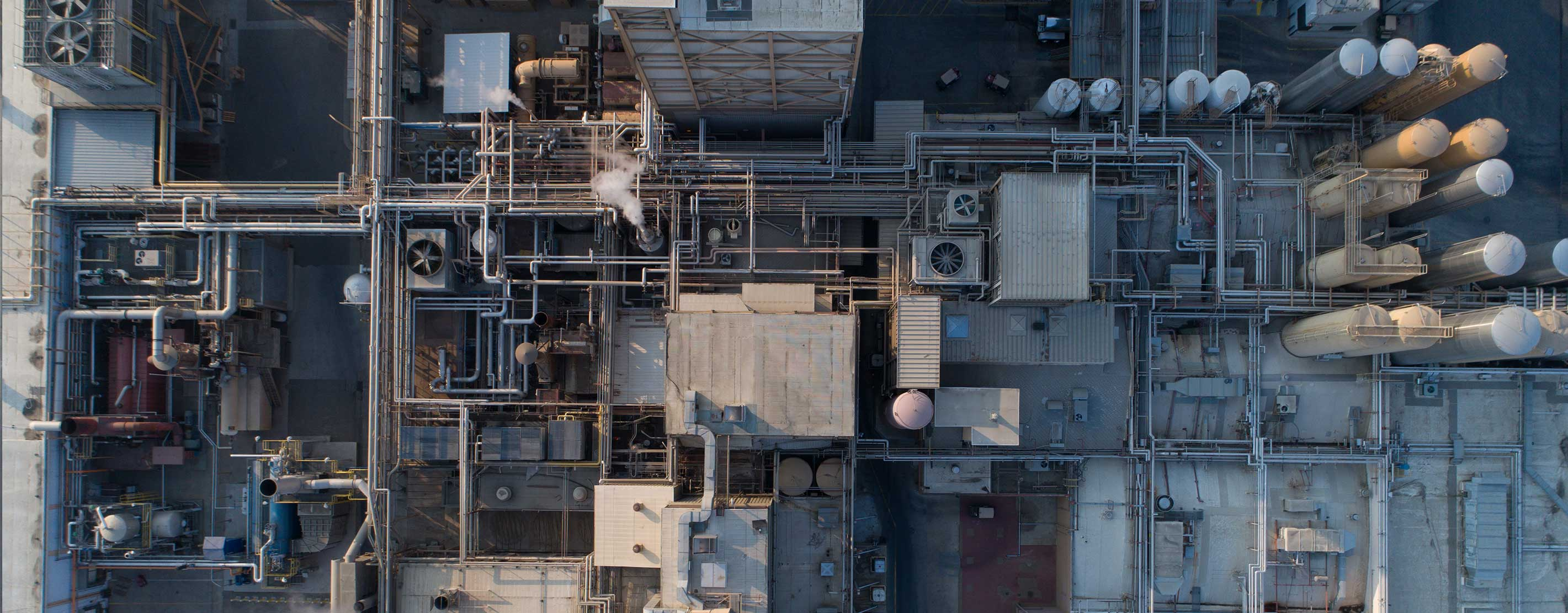 An Aerial View Of A Food Processing Plant
