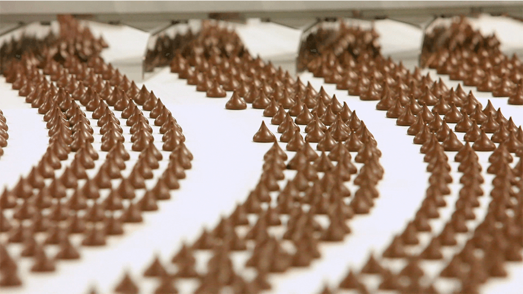 Hershey Kisses In A Factory